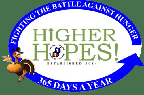 Higher Hopes! 1,000 Turkeys, 10,000 Smiles Logo